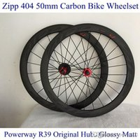 ZIPP 404 Strada Ruote nero di alta qualità bici Full Carbon Wheelsets 700C 50 millimetri Powerway R39 veri hub e Kit Shimano Cycling Rims copertoncino