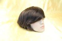 Wholesale Queen hair Hot Sell Hair Piece Men toupee Mens Toupee inch Women hair Straight x8 quot lace size Mens toupee for Bald men
