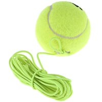 Wholesale New Single Package Drill Exercise Resiliency Tennis Balls Trainer With String Replacement Rubber Woolen Neon Green