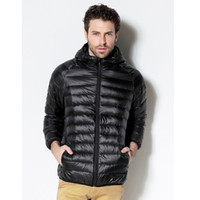 Wholesale Fall Uwback new brand winter duck down jacket man long sleeve plus size white duck down outwear coats homme TA112