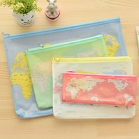 Wholesale 2016 hot shopping Creative world Map Pattern A4 A5 B6 Mini File Bag Document Bag A4 File Folder Stationery Filing Production