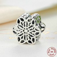 beaded lace motifs - Floral Daisy Lace Motif Charms in Genuine Sterling Silver for Pandora Style DIY Beaded Charm Bracelets S283