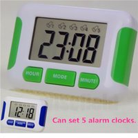 Wholesale High Quality LCD Display Alarm Clock Groups Noisy Bell Hours Countdown Multi Kitchen Timer Desktop Digital Table Clock