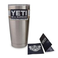 Wholesale 1pcs Yeti oz Cups Cooler YETI Rambler Tumbler Travel Vehicle Beer Mug Double Wall Bilayer Vacuum Insulated Stainless Steel
