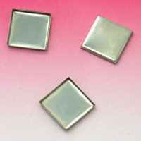 Wholesale 10x10mm Blank Bezel Settings square bezel Cabochon bases SUS304 stainless steel Bezel tray Jewelry Findings DIY Crafts