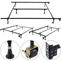 bedding center - Metal Bed Frame Adjustable Full Twin Size Center Support