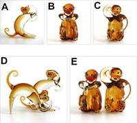 art glass figurines - glass model Monkey gift natal zodiac Monkey glass figurine home decorations creative lovely living room crafts