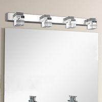 Wholesale Fashion mm crystal bathroom mirror light V W led bedroom washing room wall lamp factory
