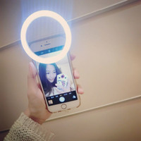 Wholesale Smart LED Selfie Ring Cover For iPhone s S Plus LG Samsung S7 Android Mobile Phone Flash Enhancing Light Beauty Luminous Case