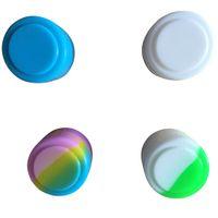 Wholesale 100 x new arrival mini round Non stick silicone container bho oil butane vaporizer silicon box tub jar wax new