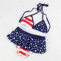 Wholesale Girls Bikini Childrens Swimsuits With Dot Two pieces Bikini Kids Slim Swimsuits Childrens Swimwear y y New Girls Cute Big Size Baby