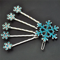 adventure play - The Snow Queen Frozen Jewelry Snow Hair Pin Girls cos play Big adventure of snow Queen Kids Cartoon Hair Jewelry Frozen Jewelry