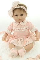 Wholesale 18inches lifelike reborn baby soft silicone vinyl real touch doll lovely newborn baby