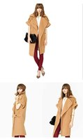 Wholesale New Arrival Occident Style Woman Poncho Coat Lapel Collar Warm Shwal Button Pockets Button Short Sleeve Winter Cape