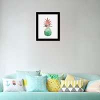 art pineapple - 2PCS Cartoon Geometric Pineapple Canvas Art Print Poster Wall Pictures for Home Decoration Wall Decor