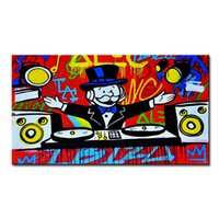 animals sheet music - Music Alec monopoly Graffiti mr brainwashart print canvas for wall art decoration oil painting wall painting picture No framed
