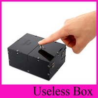 Wholesale New HOT Black Useless Box Gags Practical Jokes Funny toys Leave Me Alone Box Birthday Kids Gifts