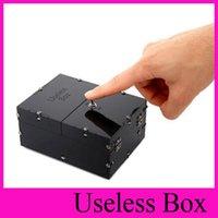 big jokes - New HOT Black Useless Box Gags Practical Jokes Funny toys Leave Me Alone Box Birthday Kids Gifts