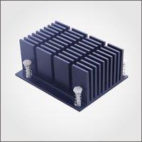 aluminum anodizing - 10set Aluminum Heatsink Radiator Cooler Kit Anodizing in Black For Cooling Raspberry Pi New Heat Sink Fans Surface