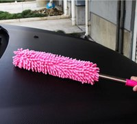 Wholesale Can t telescopic stainless steel dust chenille car wax brush feather dusters car wax tow cars with dust