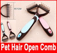 Wholesale Pets Trimmers Blades Dogs Combs Stainless Steel Open The Knot Bakes Make Pet Hair Thin Clipper Dog Grooming Tool Bakes Brush Hot Selling