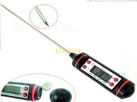 Wholesale 500pcs Digital Cooking Thermometer Food Probe Meat Kitchen BBQ Selectable Sensor Gauge Heat Indicator