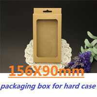 Wholesale 156mmX90mmX15mm Retail Package Kraft Brown Paper Carton Board Packing Box for iphone5 Samsung Galaxy Note Cell Phone Cases Packaging Boxes