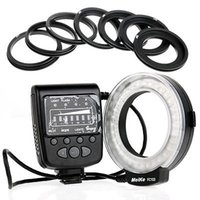 Precio de Meike flash de la cámara-MeiKe FC-100 LED Macro anillo de luz de flash con anillo para cámara digital Canon