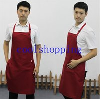 Wholesale adult men adjustable aprons multi colour working clothes cooking waiter adjustable apron