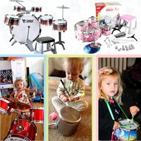 Wholesale 2016 Hot Jazz Drums Toys Kis Children Exercise Drum Toys Colors Indoor Musical Toys Online Store