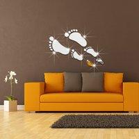 Stickers muraux empreinte France-Footprints canapé-lit, salon, TV, fond, entrée, mur, art, autocollants, autocollants, pépinière, mur, autocollants, nouveau 2016, européen, américain