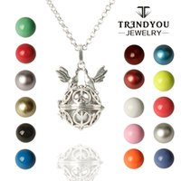 ball and chain brass plate - TRENDYOU Harmony Bola Pregnancy Chime Ball Pigeon Peace Sign Cage Box Pendant Necklace With Brass Bell Beads And Long Rolo Chain DTZ16614