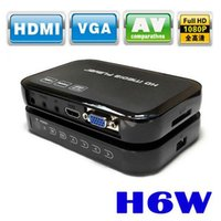 Wholesale H6W F10 chipset Full HD P HDMI D VGA MKV H media player with remote control