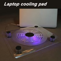 Wholesale New Portable laptop cooler with usb fan top quality suporte para notebook with led light stand laptop cooling pad for quot