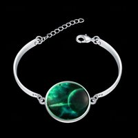 Wholesale European and American fashion retro silver alloy crystal bracelet Galaxy