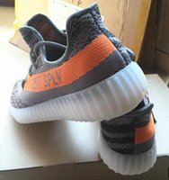 Wholesale 2016 Top Version BOOST Sply Season New With BOX Kanye west Boost Grey Orange Running Men Sneaker Shoes