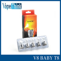 Wholesale 100 Original Smok TFV8 Baby Coil T8 ohm Q2 T6 ohm X4 Core Head From Vapethink