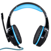 Wholesale G9000 mm Game Gaming Headphone Headset Earphone Headband with Microphone LED Light for Laptop Tablet Mobile Phones PS4 by Senhai Black