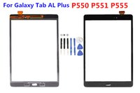 al tape - Touch Screen Digitizer Glass Lens with Tape for Samsung Galaxy Galaxy Tab AL Plus P550 P551 P555 with logo Replacement Parts Black White