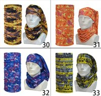 athletic hair bands - Magic Scarves Neckpieces Boho Bandanas Multifunctional Outdoors Mask Sport Wristband Cycling Scarf Turban Sunscreen Hair Band