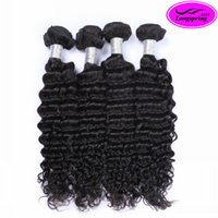 Peruvian Hair best curly weaves - Best Quality A Brazilian Deep Wave Brazilian Hair Bundles Peruvian Malaysian Indian Curly Human Hair Weaves