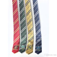 Wholesale Children kids necktie Harry Potter badge of college Gryffindor Ravenclaw Hufflepuff embroidery boys girls cosplay ties