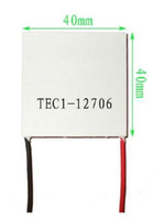 Wholesale 2pcs TEC1 Thermoelectric Cooler Peltier V A Cells TEC12706 Peltier Elemente Module