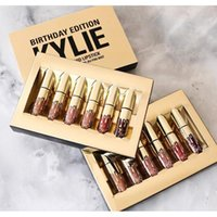 Wholesale Golden Kylie Jenner Lipkit Limited Edition Birthday CONFIRMED Matte Lipstick high quality by DHL