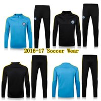 Wholesale Soccer Wear Manchester City sets jerseys Training suit men football tracksuit long sleeve shirts ET