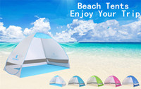 beach shelters - Summer Outdoors Tents Camping Shelters for People UV Protection Tent for Beach Travel Lawn DHL Fast Shipping