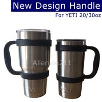 Wholesale New Design Cups Handle For YETI Rambler oz oz Bilayer Stainless Steel Insulation Mug Outdoor Travel Portable Double Wall Car Cups