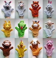 Wholesale 2016 new inch animal hand puppet talking puppet finger plush animal group tiger lion monkey sheep pig