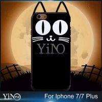 beard iphone - Cartoon Animals Cute Big Eye Crystal Ear Bow Beard Luna Cat TPU Case Cover For iPhone s Plus Plus
