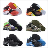 Cheap Original Children Kids 2016 Cheap Basketball Shoes Mens Lebron Soldiers 9 Sneakers Good Quality Authentic LB High Cut Sports Shoes Size 7-12